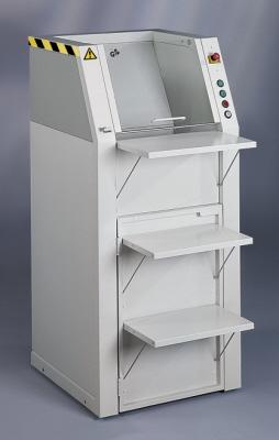 Large volume paper shredders
