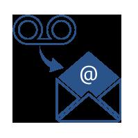 grabaciones de correo de voz a correo electrónico